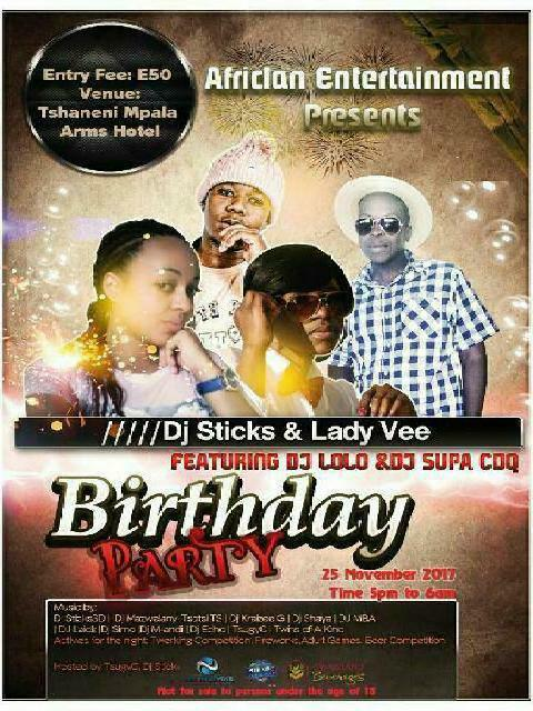 Dj Sticks And Lady Vee Birthday Party
