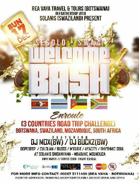 Sesolo Swazi Welcome Bash