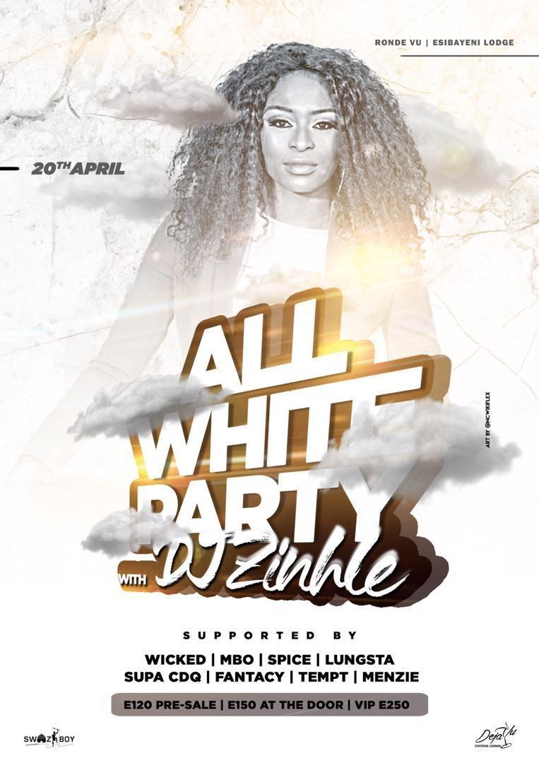 All White Party With DJ Zinhle