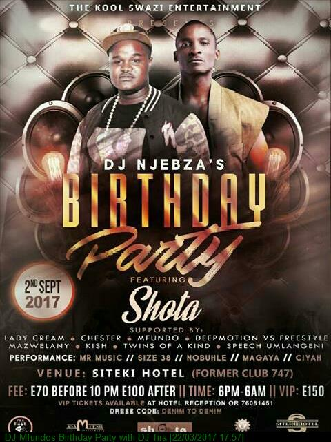 DJ Mfundos Birthday Party with DJ Tira