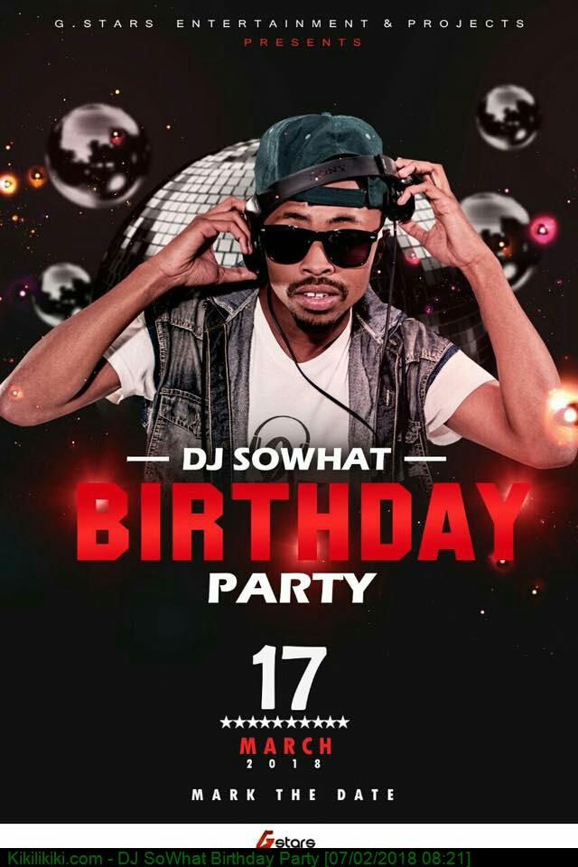 DJ SoWhat Birthday Party