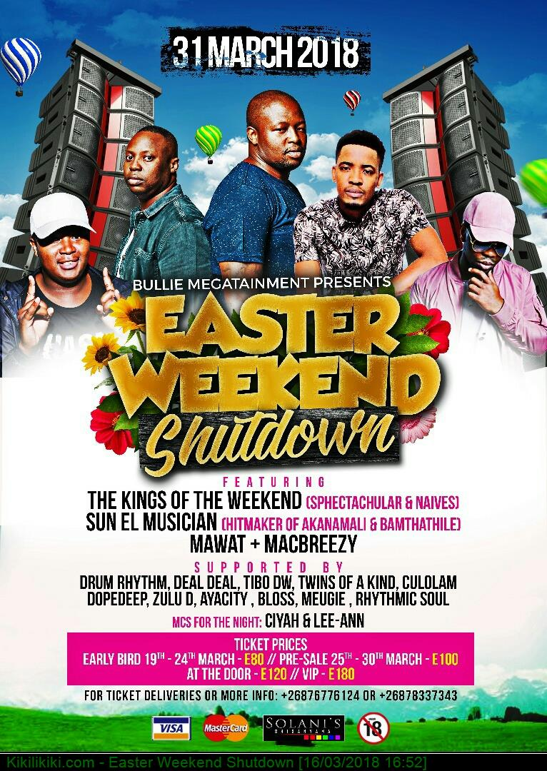Easter Weekend Shutdown