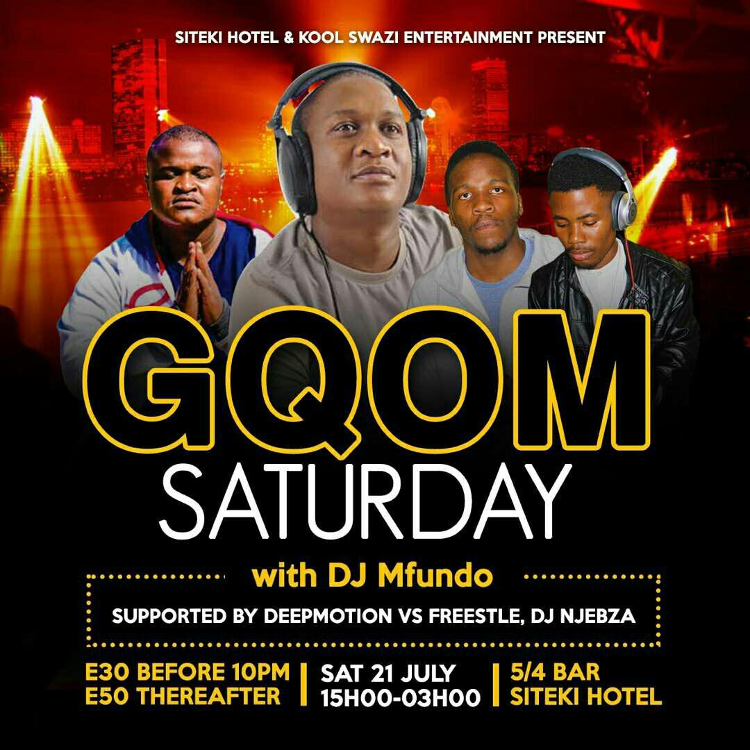 Gqom Saturday With DJ Mfundo