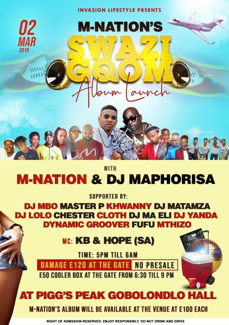 M-Nations Swazi Gqom Album Launch Pic