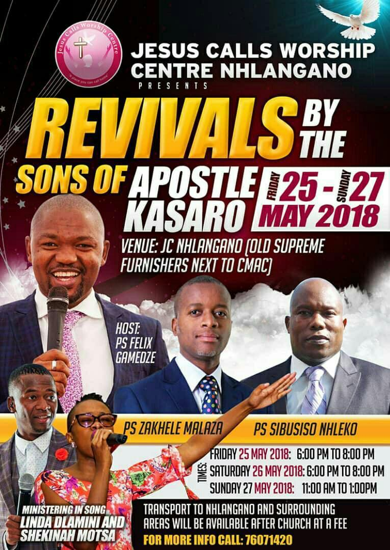 Revivals By The Sons Of Apostle Kasaro
