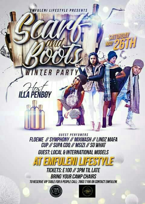Scarf And Boots Winter Party