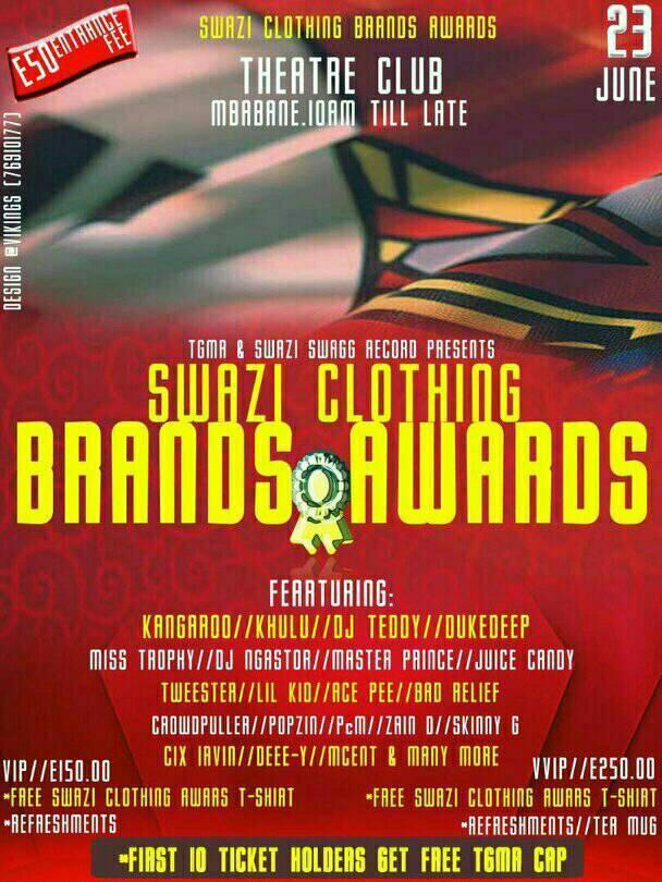Swazi Clothing Brands Awards