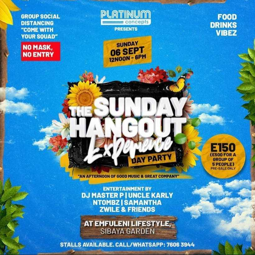 The Sunday Hangout Experience Pic