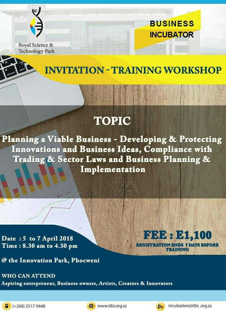 Training Workshop - Business Incubator
