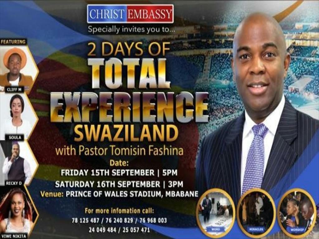 2 Days of Total Experience with Pastor Tomisin Fashina
