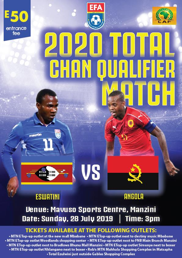 2020 Total CHAN Qualifier Match - Eswatini vs Angola Pic