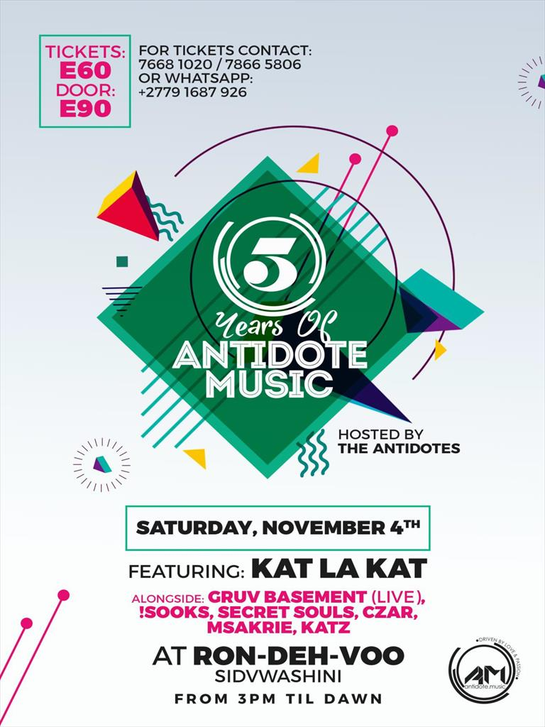 5 Years of Antidote Music