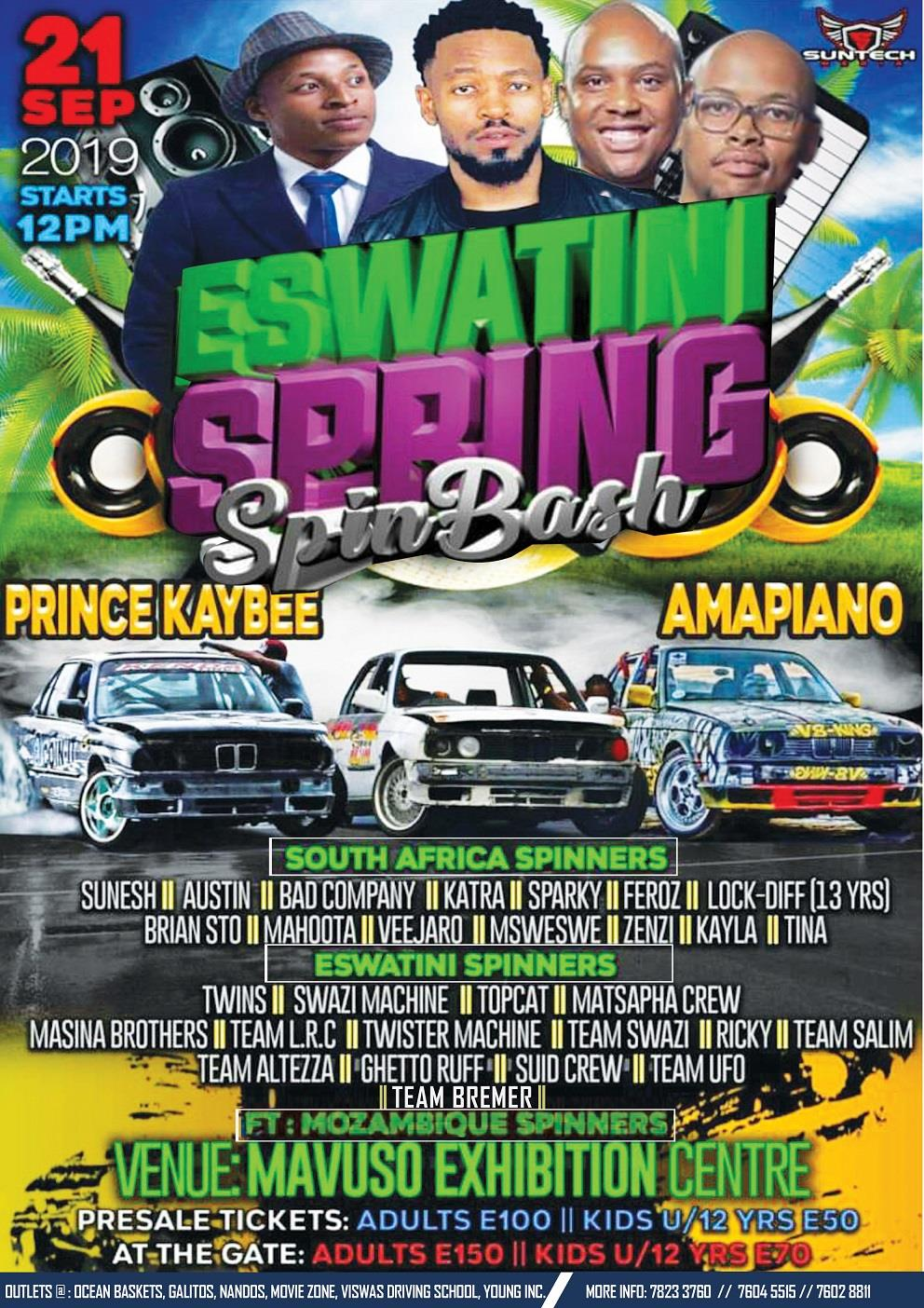 Eswatini Spring Spin Bash ft Prince Kaybee and Amapiano