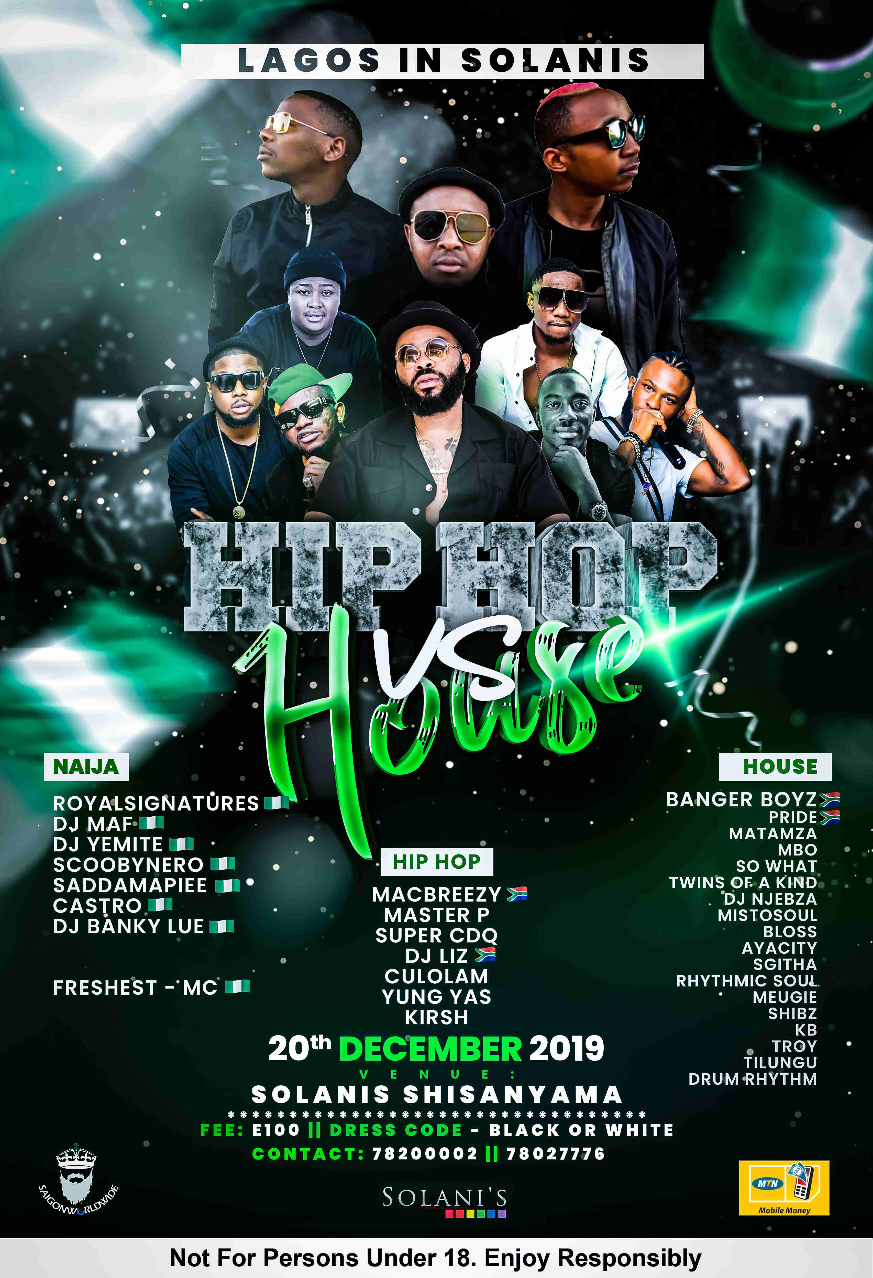 Lagos In Solanis - HipHop vs House