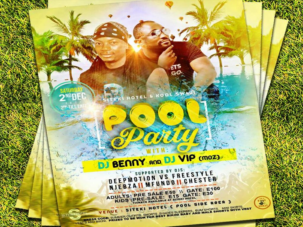 Pool Party with Moz DJs Benny and VIP