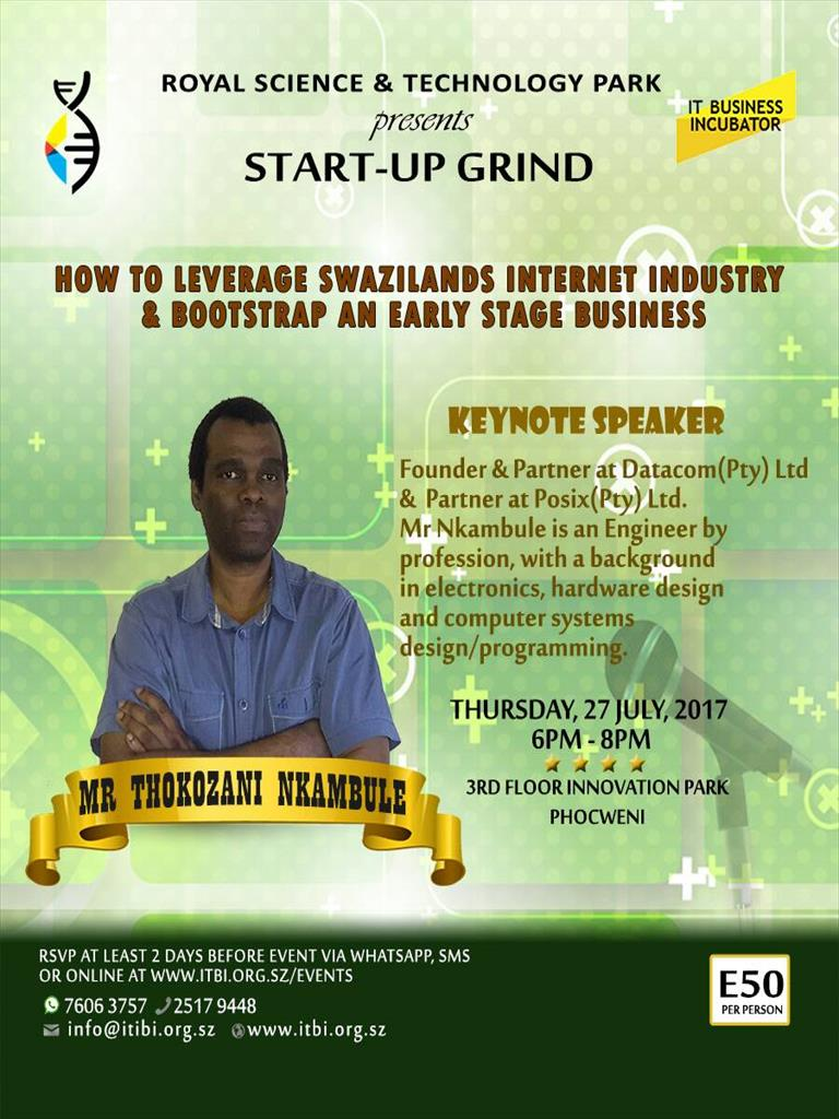 RSTP Start-Up Grind with Mr Thokozani Nkambule