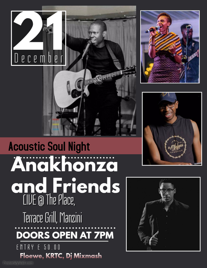 ANAKHONZA  FRIENDS ACOUSTIC SOUL NIGHT