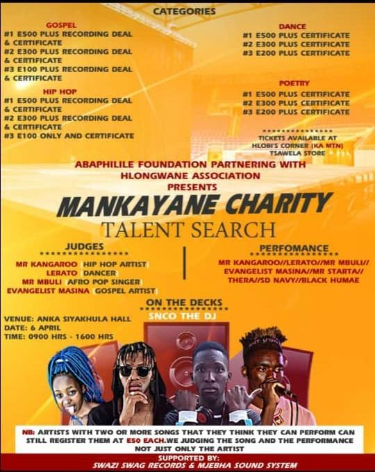 Mankayane Charity Talent Search