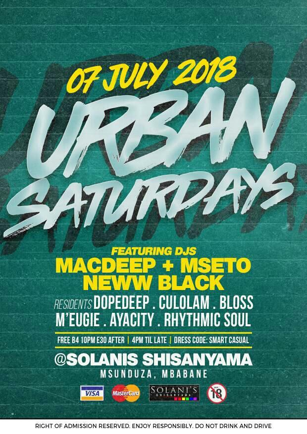 Urban Saturdays Ft MacDeep And Mseto
