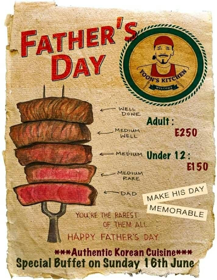Fathers Day Special Buffet Day