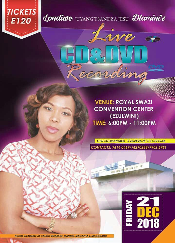 Londiwe Dlaminis Live CD and DVD Recording