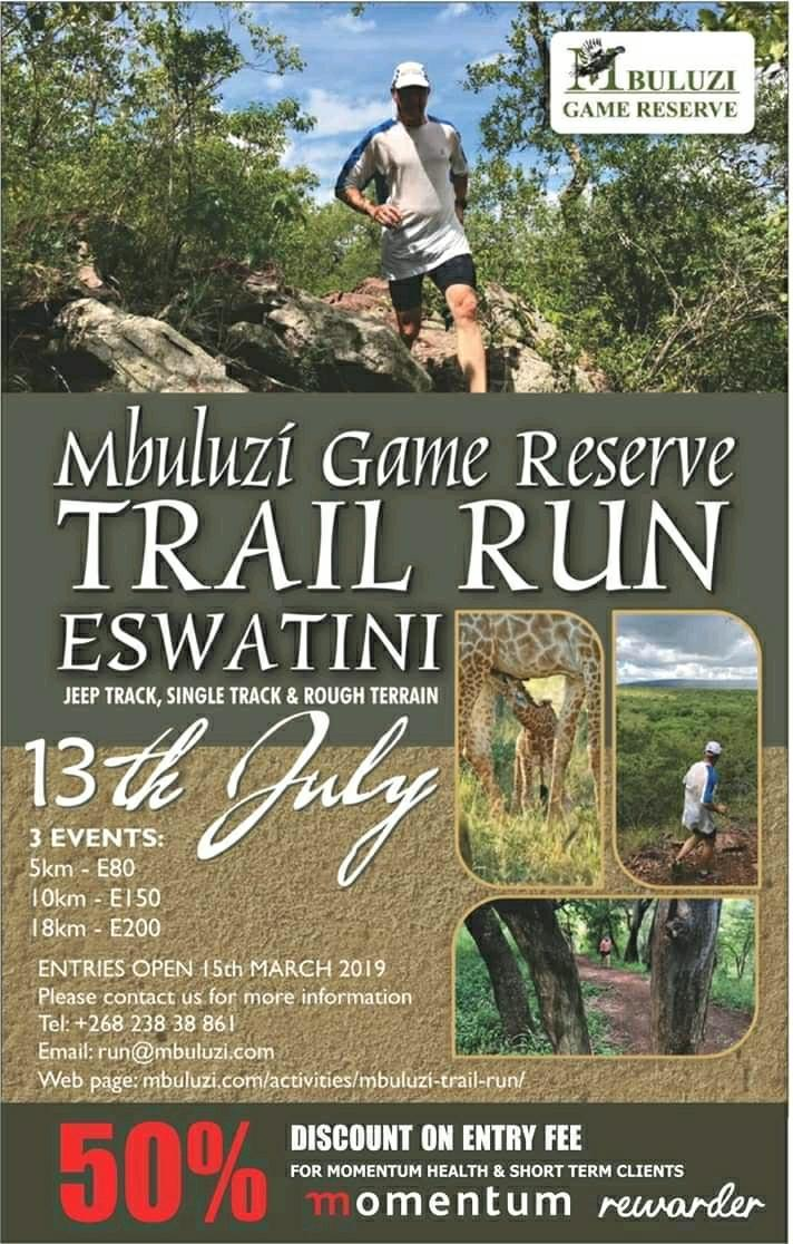 Mbulizi Game Reserve Trail Run Eswatini Pic